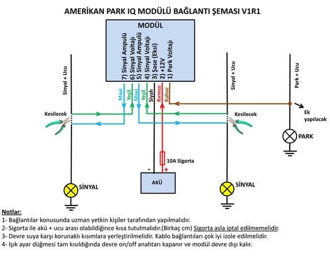Ayarlı Amerikan Park IQ Bağlantı Şeması
